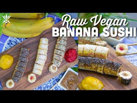 Raw Vegan Banana Sushi | Plant-based Snack For Kids & Mamas-to-be