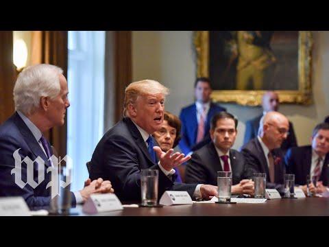 Trump's meeting about school shootings, in three minutes