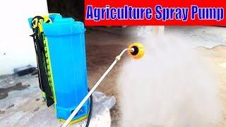 Agriculture spray pump Demo   Agricultural battery sprayer pump Demo
