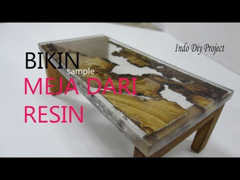 DIY.BUAT SAMPLE MEJA MAKAN.meja resin.