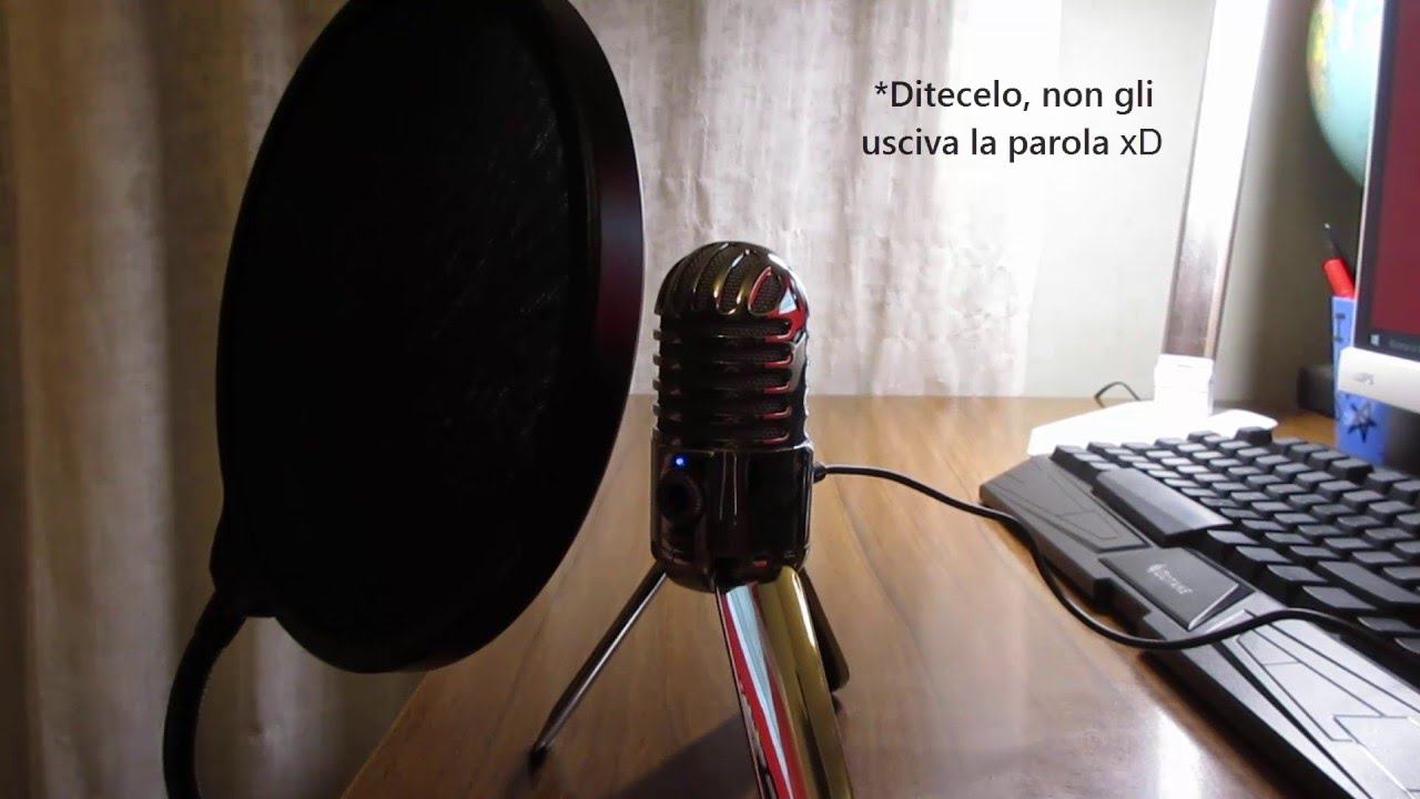 samson meteor mic microfono usb unboxing e test youtube. Black Bedroom Furniture Sets. Home Design Ideas