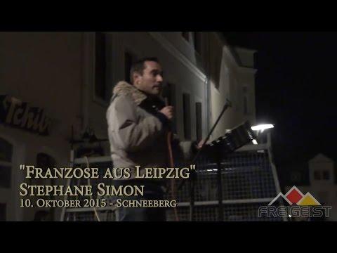 """Franzose aus Leipzig"" - Stephane Simon am 10. Oktober 2015 in Schneeberg"