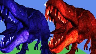 Dinosaurs cartoons to children Mega gummy bear Crying when see Dinosaurs T REX LEARN COLORS FOR KIDS
