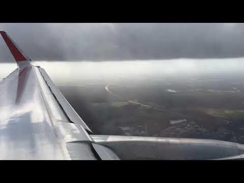 Landing In Hannover (HAJ) Germany From Sheremetyevo (SVO) Moscow - Aeroflot Flight SU 2342