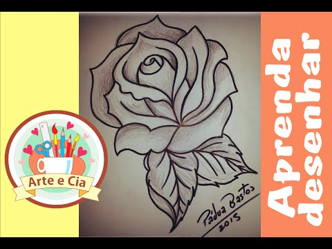 Como Desenhar Uma Rosa Simples Passo A Passo