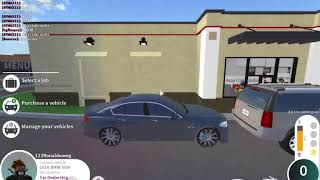 Driving a BMW 550i and doing a KFC drive thru in ROBLOX