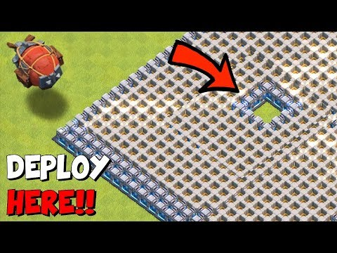 "DROP TROOPS IN THE WALLS!!! ""Clash Of Clans"" BATTLE BLIMP TROLL!!"