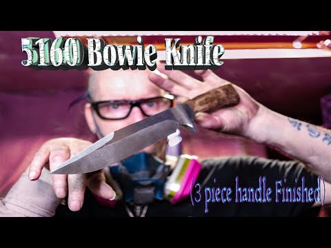 5160 Integral Bowie Knife (3 piece handle finished-2018)