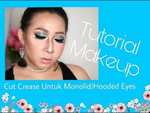 cut crease untuk hooded/monolid eye  tutorial makeup