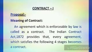 Proposal Under Indian Contract Act