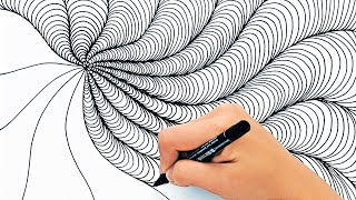 RELAXING DRAWING TECHNIQUES    SATISFYING VIDEO FOR RELAXATION