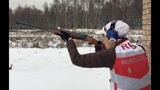Тренировка члена сборной России по стендовой стрельбе Анастасии Крахмалевой.