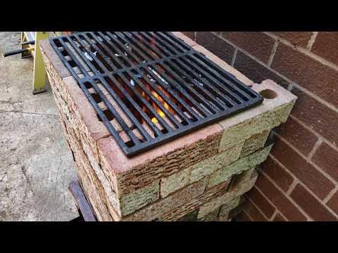 Diy brick rocket stove without mortar!