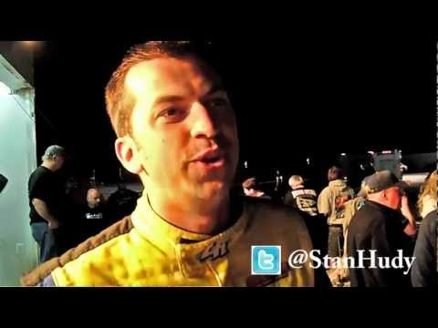 Chris Busta reaction modified feature race Albany-Saratoga Speedway 4-20-12