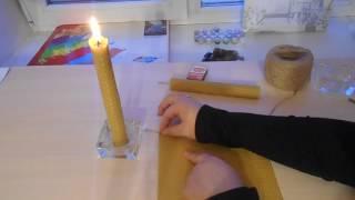 Как сделать свечи в домашних условиях? Свечи из вощины.