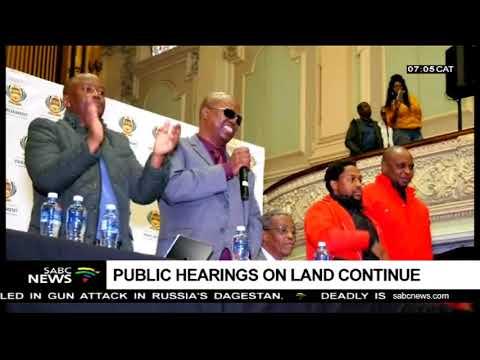 Public hearings on land continue in Pietermaritzburg