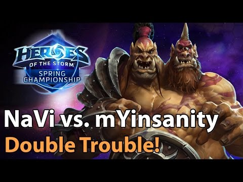► Heroes of the Storm Pro Cho'Gall Gameplay: mYinsanity vs. NaVi - Spring Championship