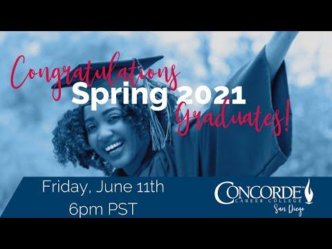 Concorde Career College San Diego Campus Spring 2021 Graduation