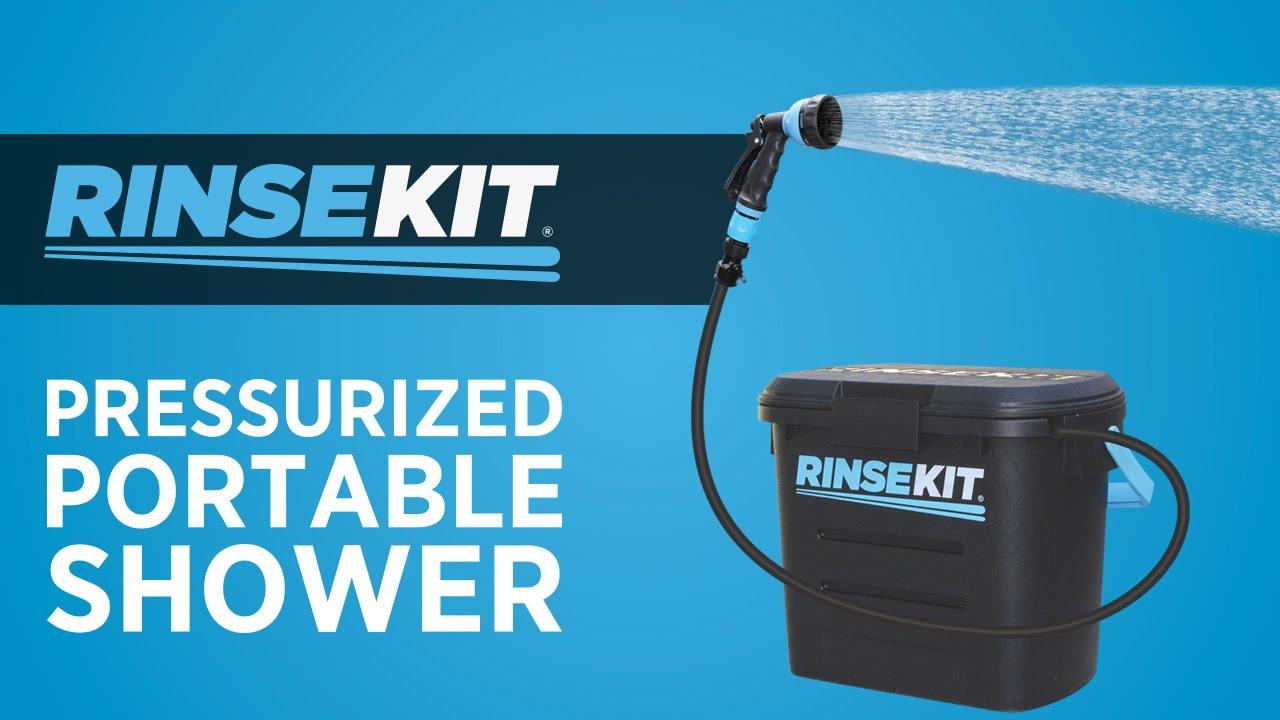 RinseKit® Pressurized Portable Shower