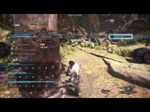 MHW: Iceborne Beta_SnS shield bash into perfect rush combo