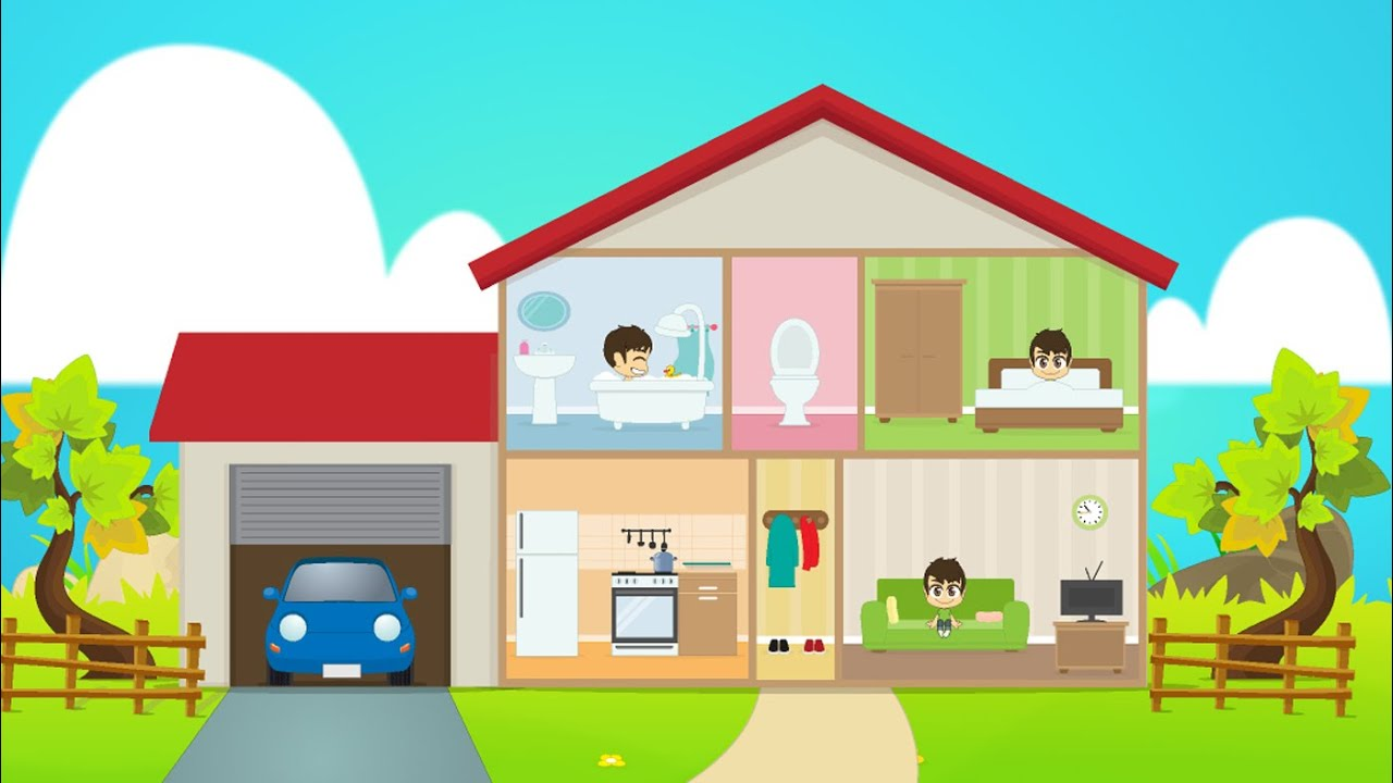 Learn house vocabulary for kids in arabic for House images for kids