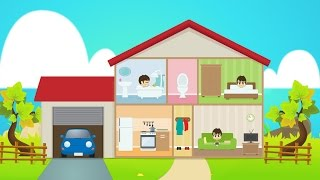 Learn House Vocabulary for Kids in Arabic - تعليم مفردات البيت باللغة العربية للاطفال