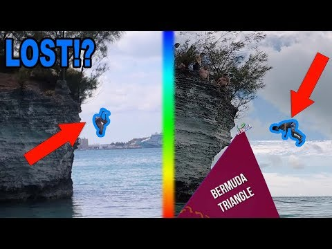 CLIFF JUMPING IN THE BERMUDA TRIANGLE! (LOST)