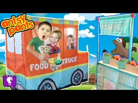 FOOD TRUCK! ANTSY PANTS Build and Play with HobbyDad