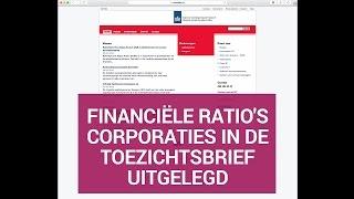 Financiële ratio's corporaties in de toezichtsbrief uitgelegd