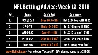 NFL Betting Advice: Week 12, 2018 - Against the Spread (ATS), Picks, Over/Under