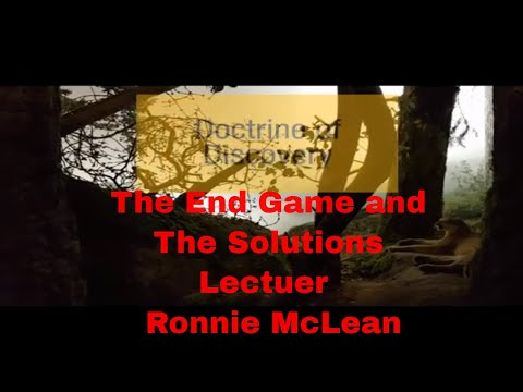 Doctorate Of Discovery End Game & Solution  Pt 6 Lecturer Ronnie McLean