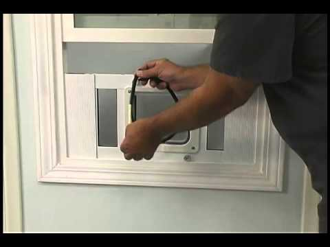Installing The Aluminum Sash Window Pet Door By Ideal Youtube