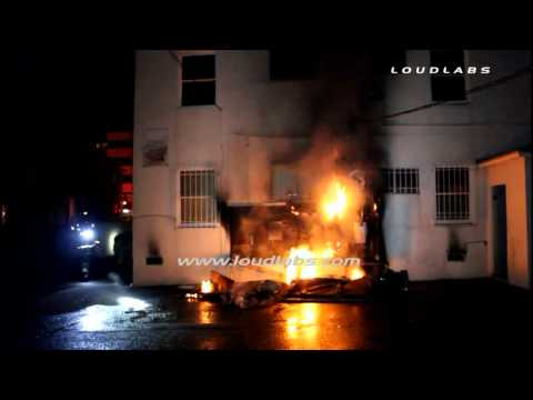 Electrical Panel Causes Structure Fire / North Hollywood   RAW FOOTAGE