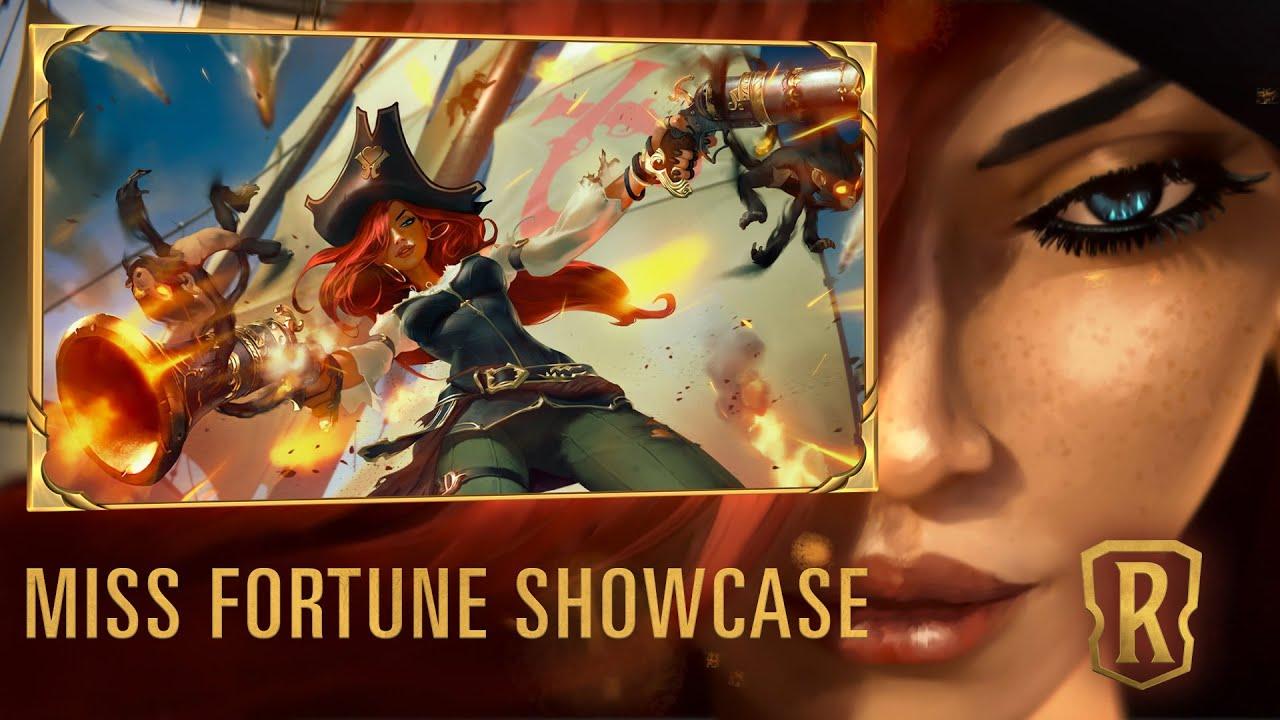 Miss Fortune Champion Showcase   Gameplay - Legends of Runeterra - YouTube