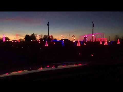 Dancing Lights of Christmas lights up