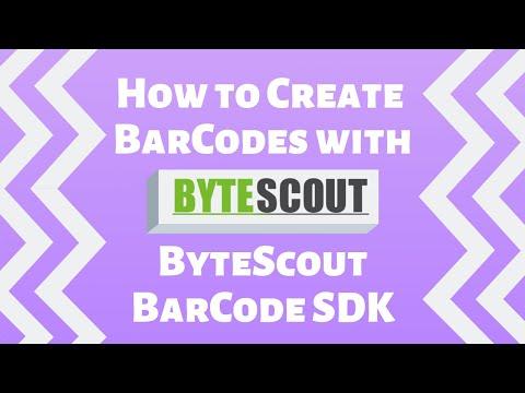 Bytescout Barcode Generator SDK for  NET, ASP NET, SSRS