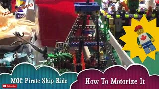 LEGO Pirate Ship Ride How To Motorize - How It Works Behind The Scenes