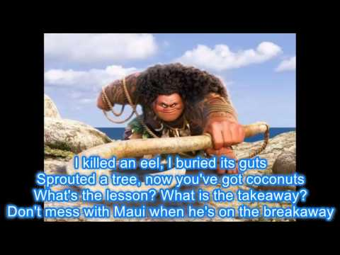 Maui Youre Welcome with Lyrics