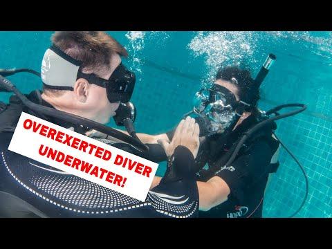 PADI Rescue Course - Overexerted Diver Underwater PADI IDC Course