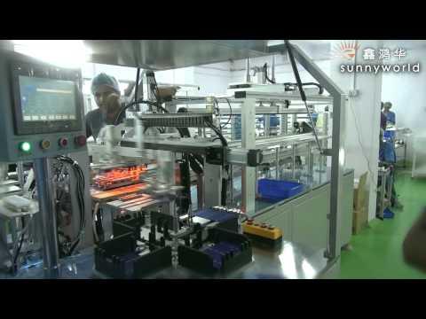 SUNNYWORLD automatic solar cell stringer machine made by Shenzhen xinhonghua solar energy co.,ltd