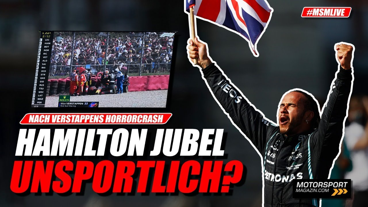 War Hamiltons Jubel nach Verstappen-Crash unsportlich? | Formel 1 2021