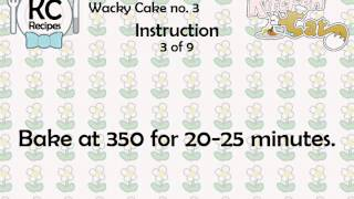 Wacky Cake No. 3 - Kitchen Cat