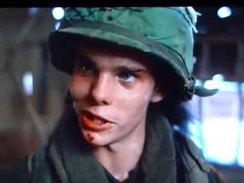 """Holy shit! You see that fuckin' head come apart, man?"""" Platoon - YouTube"""