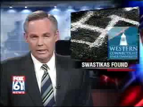 Swastikas found at college in Danbury Part 1