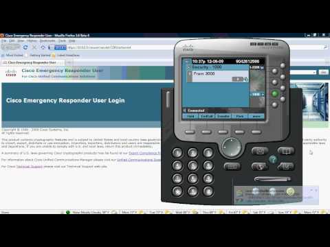 Cisco Emergency Responder 7.1  End User Training Video