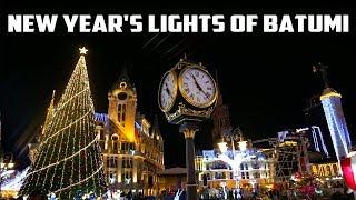 БАТУМИ. НОВЫЙ ГОД! / New Year's lights of Batumi