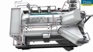 haug oil free and gas tight gas compressor