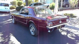 65 Mustang 289 3speed start up