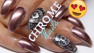 How to Chrome nails (no powder) | UnderTheLilyShadow
