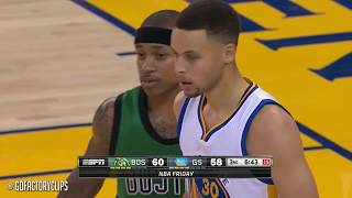 Isaiah Thomas vs Stephen Curry CRAZY Duel Highlights (2016.04.01) Warriors vs Celtics - DRAMA!